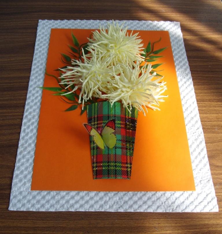 Как сделать хризантему из салфетки своими руками