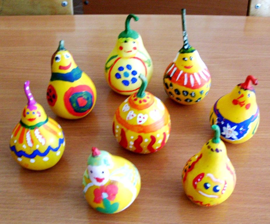 Поделки в детский сад из декоративной тыквы 1