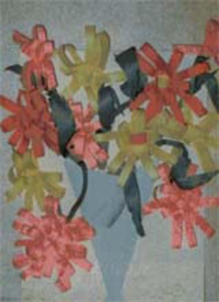 Поделки из бумаги цветы в вазе
