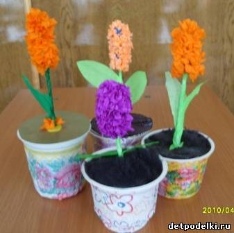 Как сделать детскую поделку цветок
