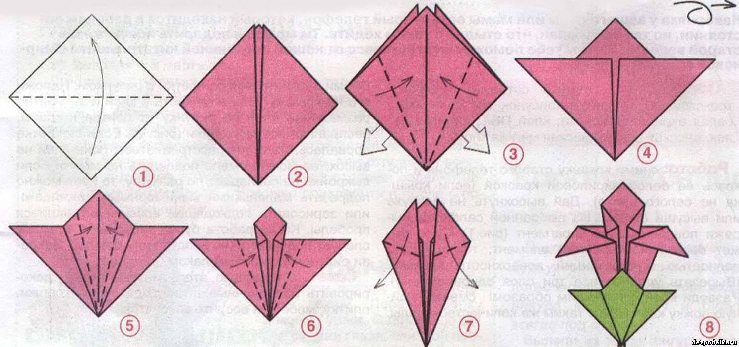 Оригами на открытку цветы 325