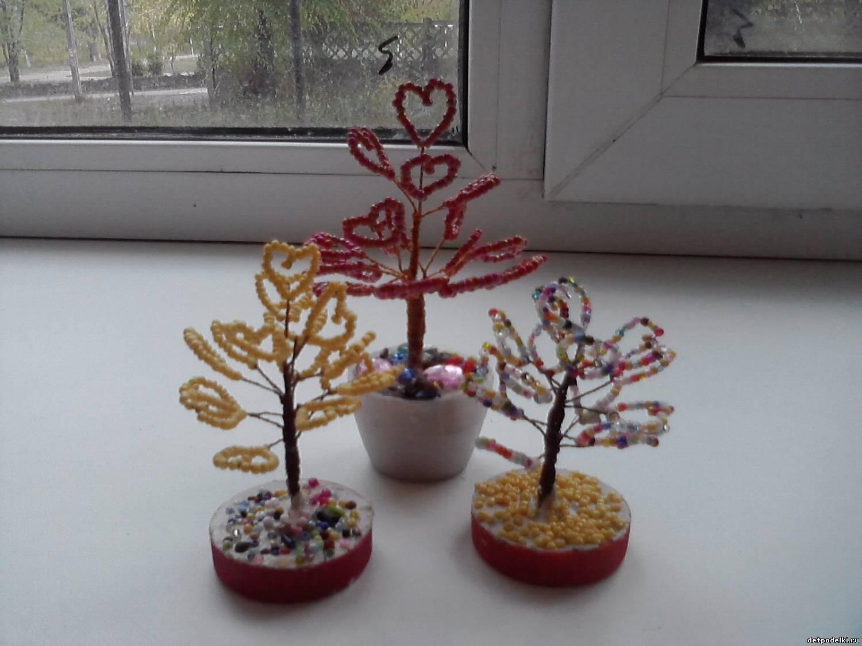 Как из бисера сделать маленькое дерево