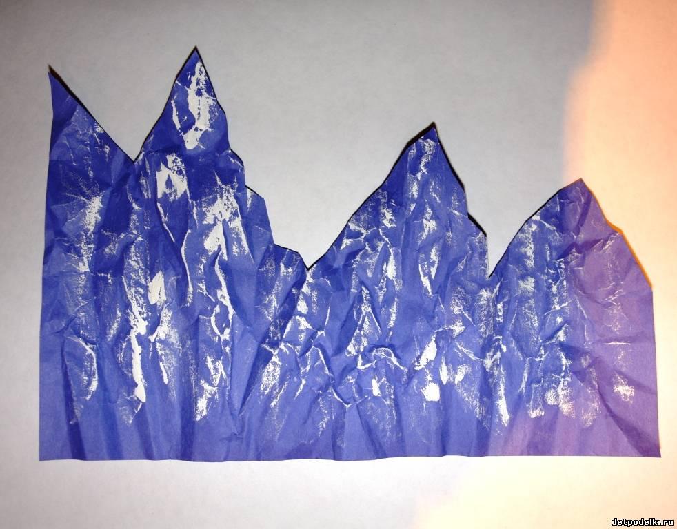 Как сделать горы из бумаги своими руками