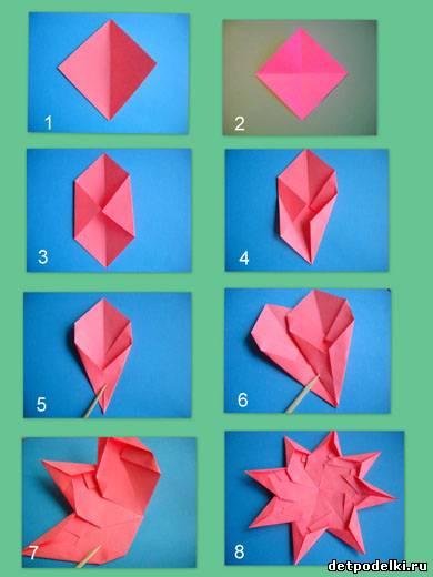 Как сделать новогоднюю звезду из бумаги оригами