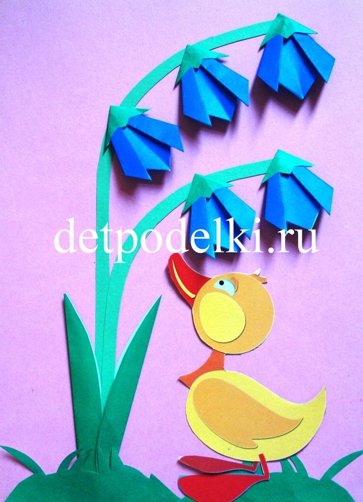 Цветы колокольчики из цветной бумаги