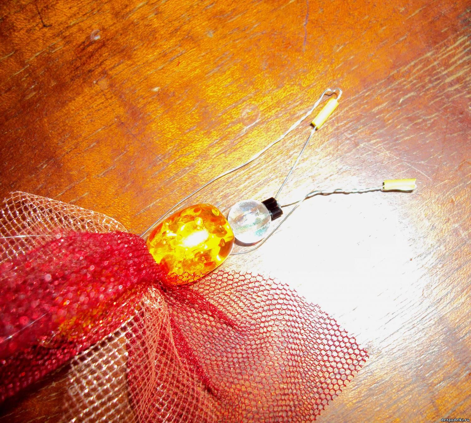 Бабочка из фатина своими руками