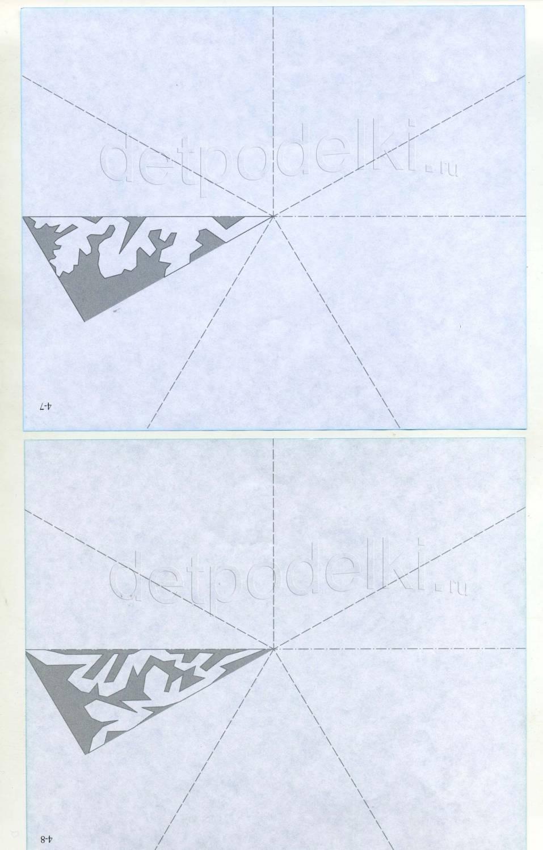 Вырезать снежинку из бумаги а4 схемы
