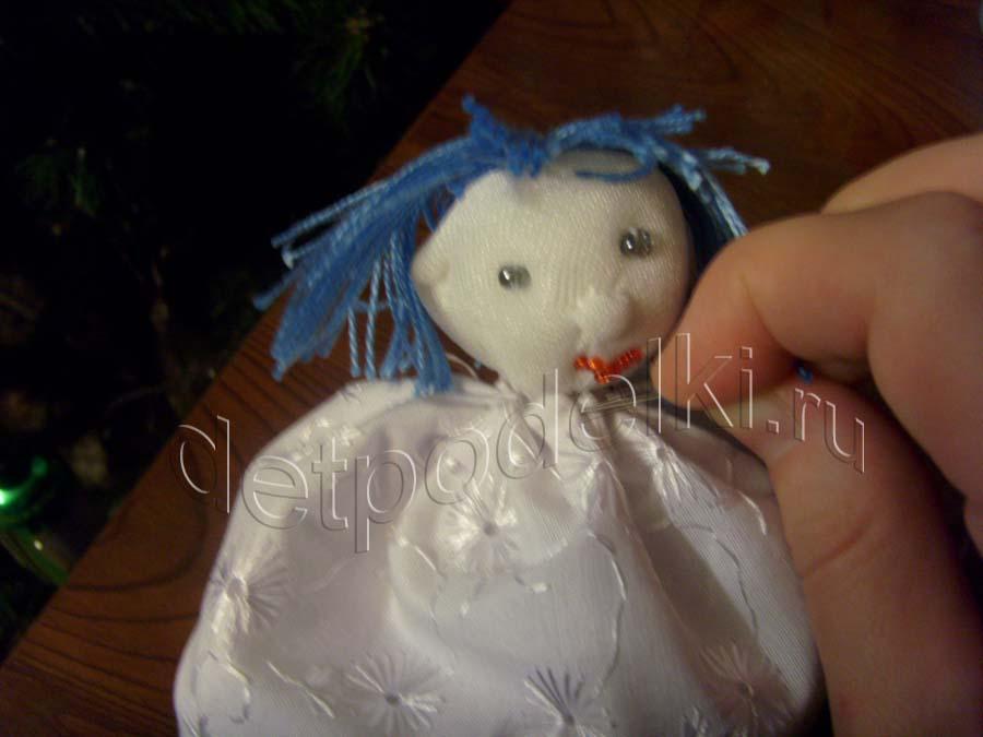 Ангел из ткани поделка своими руками
